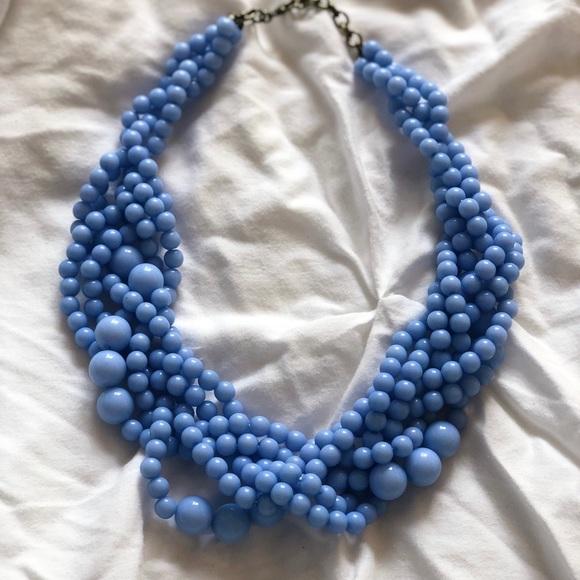 BaubleBar Jewelry - BaubleBar Blue Beaded Statement Necklace